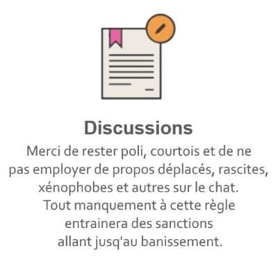 Règles du Tchat Gratuit de Rencontre-Dépressif.eu